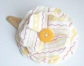 fabric flower hair clip yellow