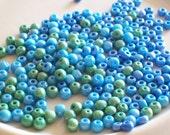 Destash- Blue and Green Bead Mix