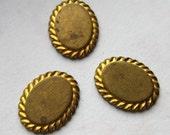 Vintage Brass Stamping Oval Frame - Marked Disney