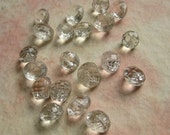 Vintage Glass Buttons - Transparent Faceted Domes