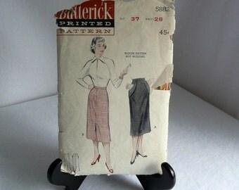 Butterick Pattern 5882 Long Slim Skirt Size 16