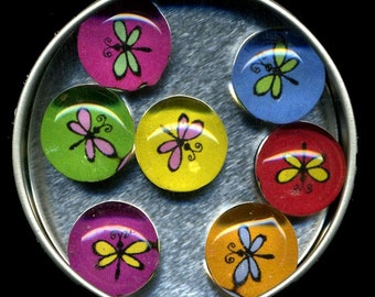Dragonfly Glass Gem Magnets