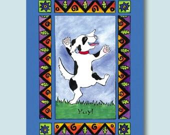 Dancing Dog Card