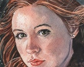 Doctor Who Amy Pond 4 x 6 Reproduction Art Print