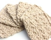 Eco Friendly  Organic Cotton Makeup Remover Face Scrubby Washcloths Set of 6