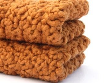 Crochet Dishcloths Crochet Washcloth Organic Cotton Washcloth Orange Spice Discontinued - Limited Quantity Remaining