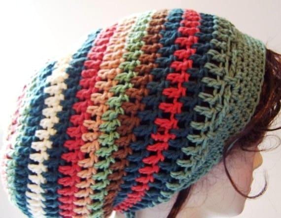 Slouchy Beanie Crochet Dreadlock Bonnet Hippie Tam  - You pick the Colors