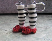 Wicked Ruby Slipper Ceramic Clay Earrings