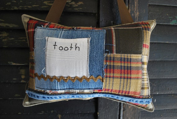 SALE// Vintage Tooth Fairy Pillow by Whoopsie Daisies on Etsy