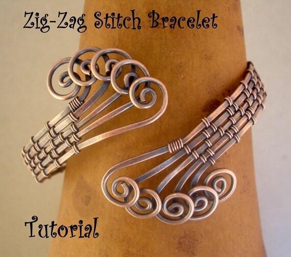 NEW Zig-Zag Stitch Bracelet Tutorial---Step by Step instruction