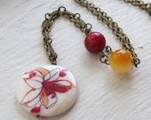 Flor Antique Brass Necklace