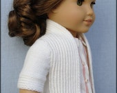 "Amelie Open-Front Cardigan - PDF Knitting Pattern For 18"" American Girl Dolls - Instant Download"