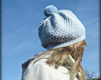 Rosamund 2 - PDF Knitting Pattern - A Slouchy Hat / Beret - Sizes Baby 6 - 12 Months, Children, Preteens