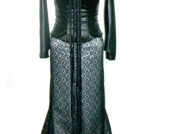 Padme Amidala Black Corset Fireside dress CUSTOM made S-M Halloween Costume