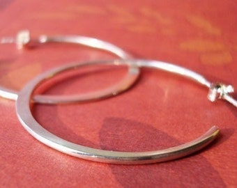 Hoop Earrings, Large Smooth Hoops