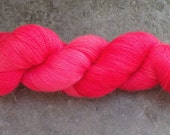 """Extra Fine Merino and  Silk Laceweight yarn handpainted in  """"99 red balloons"""""""