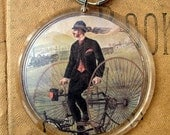 Bicycle Steampunk Vintage Image Keychain