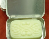Lemongrass and Lime Solid Lotion Bar in a Tin