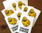 Tough Chick Greeting Cards - 8 Pack with Envelopes, Thank You Cards, Birthday Cards, Baby Announcement, Baby Shower