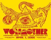 Wolfmother Noise Pop Andrew Stockdale Snake Unicorn Planet Mind's Eye Silk Screened Rock Poster - Etsy