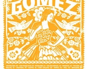 Gomez The Band Main Yellow Tour 2012 Quinceanera Silk Screen Rock Poster