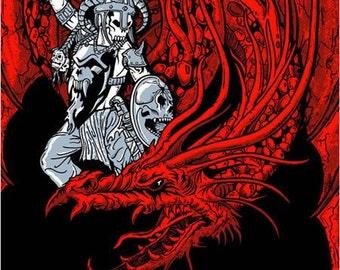 High On Fire HOF Dragon Warrior Poster - Etsy