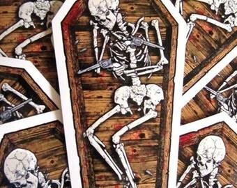 Skeleton Coffin Die Cut Shot Guns Dead Blood Halloween Vinyl Sticker Party Favor - Etsy