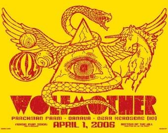 Wolfmother Noise Pop Andrew Stockdale Snake Unicorn Planet Mind's Eye Silk Screened Rock Poster - Etsy