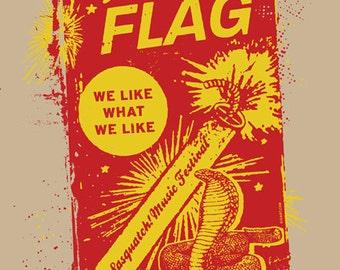 Wild Flag Sasquatch Music Festival 2012 Sleater Kinney Silk Carrie Brownstein Screen Poster - Etsy