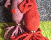 Squiddity PATTERN - how to knit a squid in ten easy steps.