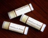 Vanilla Pear Oval Lip Balm - One Tube Beeswax Shea Cocoa Butter Jojoba LIMITED EDITION