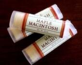 Maple Macintosh Lip Balm - One Tube Beeswax Shea Cocoa Butter Jojoba LIMITED EDITION