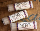 Blueberry Crumble Lip Balm - One Tube Beeswax Shea Cocoa Butter Jojoba LIMITED EDITION