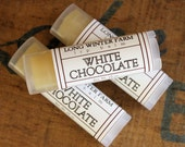 White Chocolate Lip Balm - One Tube Beeswax Shea Cocoa Butter Jojoba