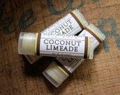 Coconut Limeade Lip Balm - One Tube Beeswax Shea Cocoa Butter Jojoba LIMITED EDITION