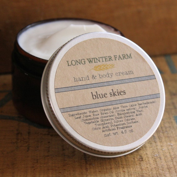 Blue Skies Skin Cream with Organic Aloe Juice hand body