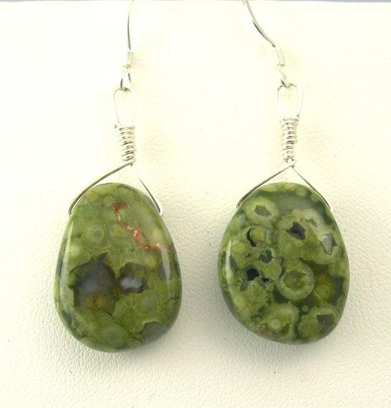 GREEN JASPER FACETED GEMSTONE TITANIUM PENDANT BIG JASPER ...  |Green Jasper Jewelry