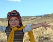 Margalo Aviator Cap hat- Rust