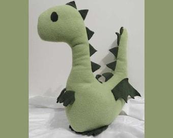 Dragon or Dinosaur Fleece Stuffed Plush Animal Pattern