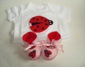 Baby Girl Shoes Baby Girl Onesie Bodysuit Baby Boots Girl Shoe Baby Girl Booty Shoe Baby Girl Gift Set  Ladybird Baby Shower Mum To Be Gift