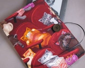 Kindle Case, Kindle Cover, Ereader Case, Nook Case,  Scaredy Cats Fabric