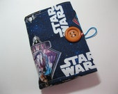 Crayon Wallet or Organizer made from Star Wars Fabric