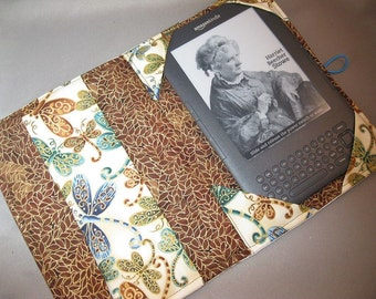 Kindle Case Nook E-reader case Dragonflies Fabric