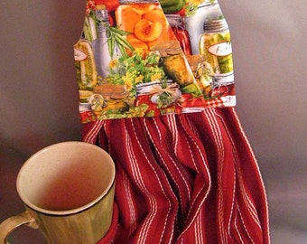 Hanging Dish Towel Canning Time Fabric
