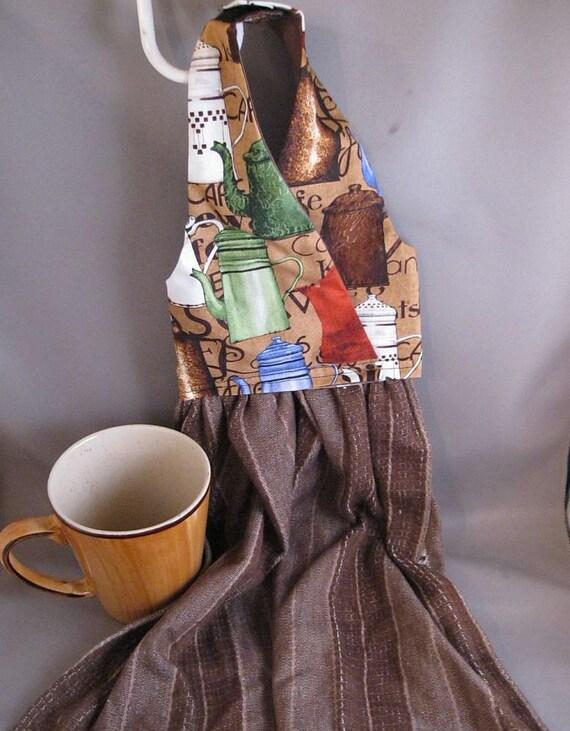 Hanging Dish Towel Coffee Pots