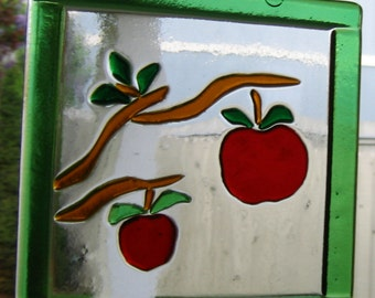 Fabulous Apple Fused Glass Windchime Indoor Outdoor  Decoration