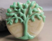 Simplicity Tree lampwork focal art bead by Ema K Designs Fire Divas SRA