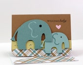 Sweet Baby Elephant Card for New Baby Card, Baby Shower and Pregnancy