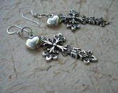 Love Crux........... Hearts and Crosses earrings