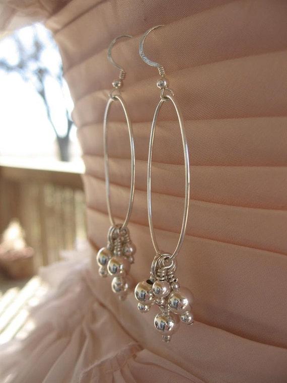 Through Hoops......... Sterling earrings